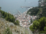 Looking down over Amalfi