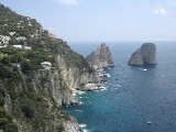 Faraglioni Rocks in the sea at Capri