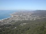 View from lookout over Wollongong
