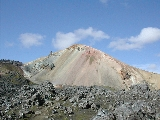 Colourful rhyolite mountain