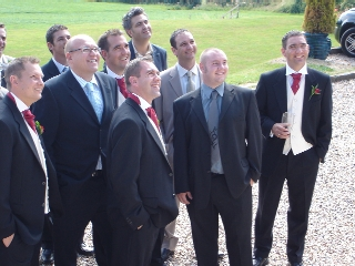Groom and guys