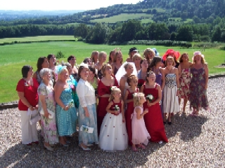 Bride and girlies